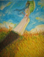 6. WOMAN WITH A PARASOL, AFTER MONET